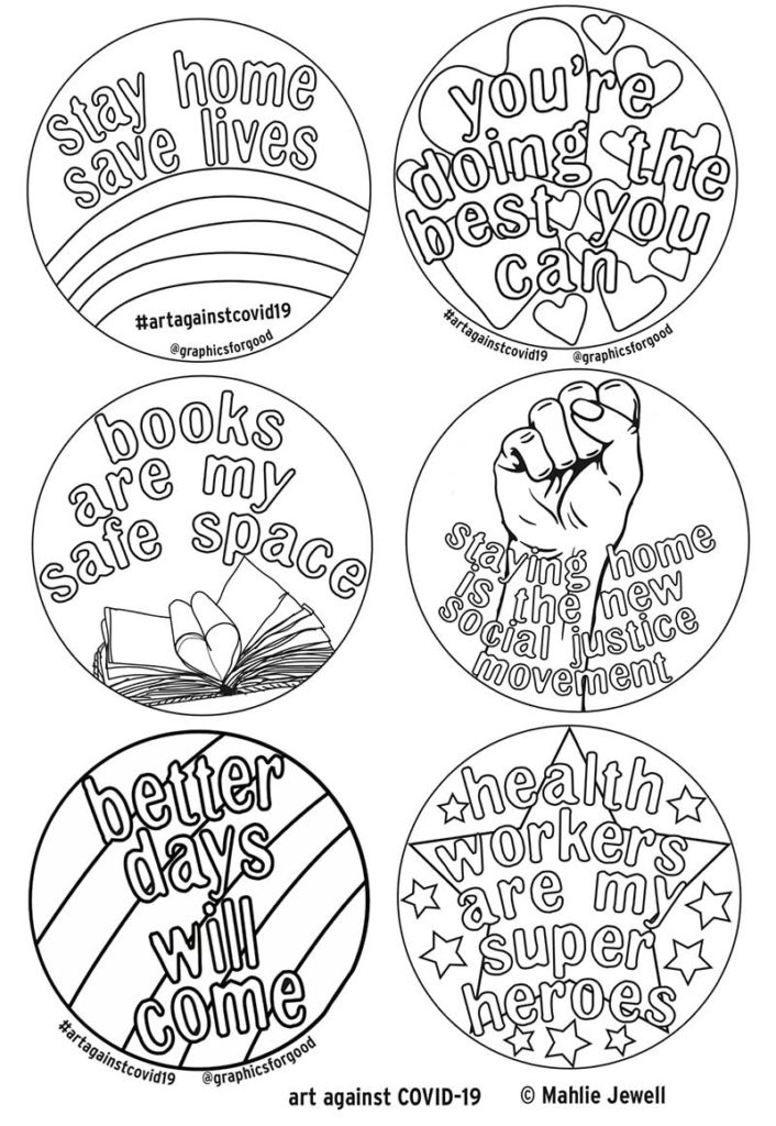 Badges to colour in